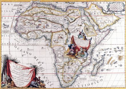 Coronelli, Vincenzo: Map of Africa. Antique/Vintage 17th Century Map. Fine Art Print.  (003878)
